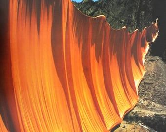 "Christo - ""Valley Curtain, Rifle, Colorado 1970-72""  - Original Photo Offset, 1972"