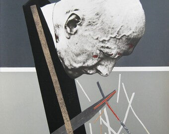 Dario Villalba - "Hombre perfil" - Large Handsigned Lithograph, 1975