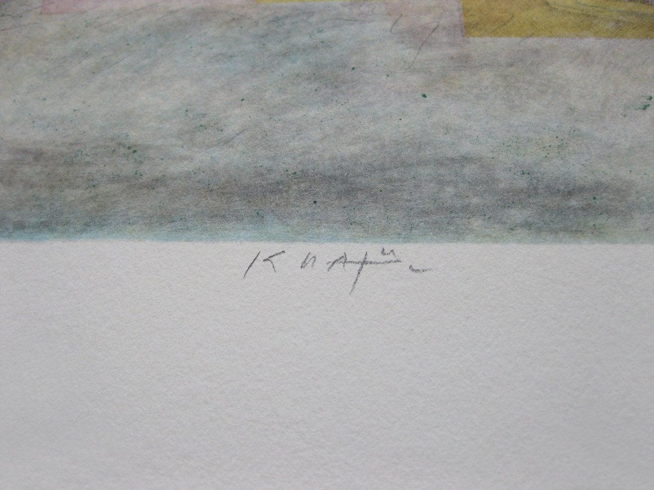 Hand Signed Lithograph Anton Krajnc