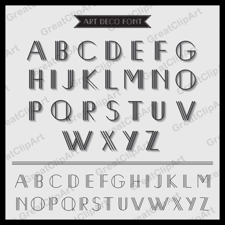 52 Art Deco Font Retro Alphabet Geometric Letters Retro