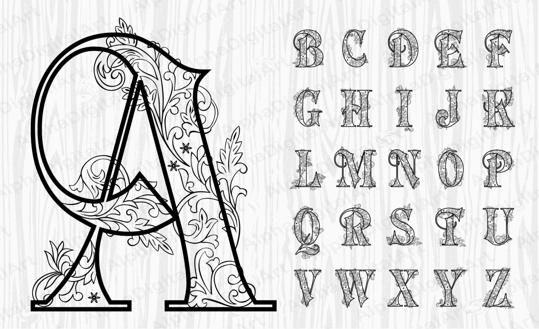 Fabulous 26 zwarte sierlijke alfabet gouden Letters gouden getallen   Etsy &FY23