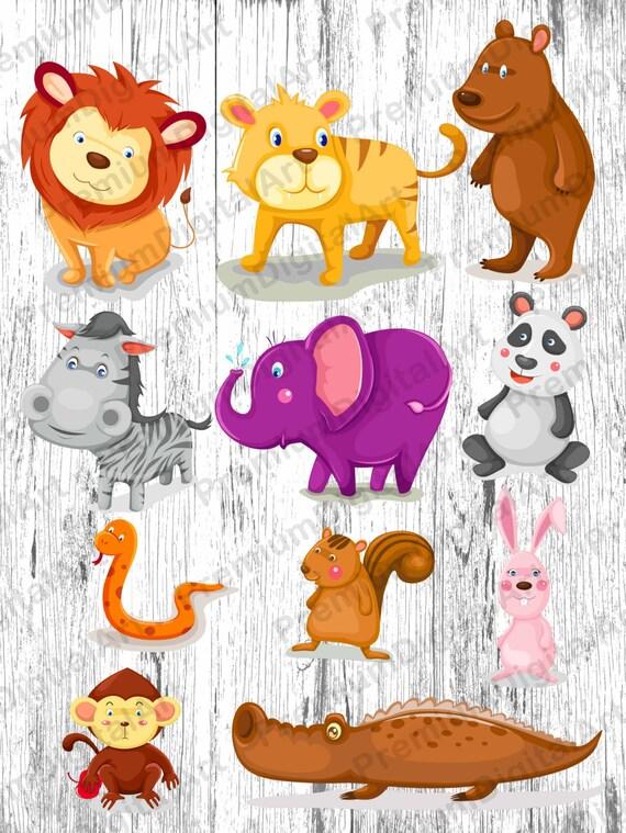 Kids clipart set animals clipart digital animals animals kids clipart 9 Hipster Kids Animals clipart scrapbooking clip Hipster animals