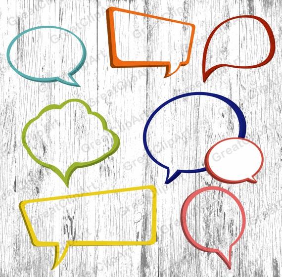 7 burbujas de discurso marcos para imprimir imágenes | Etsy
