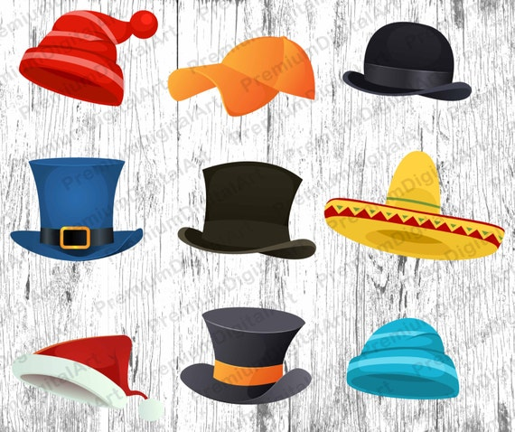 9 Hüte Clipart gemalt Hut Nikolausmütze Clipart St. | Etsy