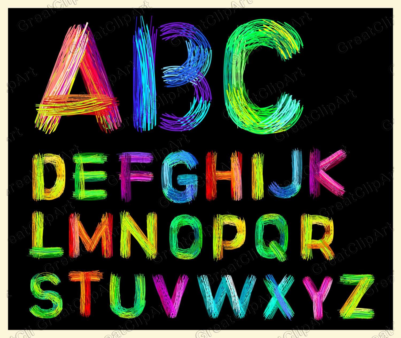26 alfabeto colorido letras letras colores alfabeto de arco | Etsy