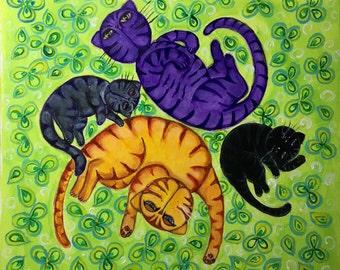 Gatos flotando (Floating cats) ORIGINAL