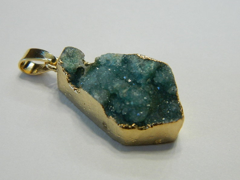 Beautiful Green Colour  Druzy Agate Crystal
