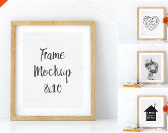 Download Free Frame mockup, Poster mock-up, Product Mockups, Canvas Mockup, Presentation art work, scandinavian style, 8x10 PSD Template