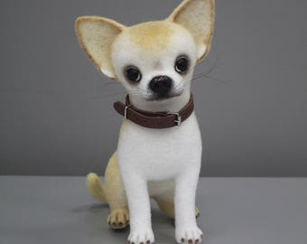 Needle felted dog, Felted dog, Collectible dolls, Needle felting, Felted chihuahua, Needle felted chihuahua