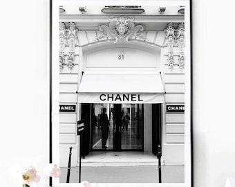 31 rue Cambon Boutique Paris. Vintage Fashion poster print. Photography Paris. Old photography  fashion .  Instant