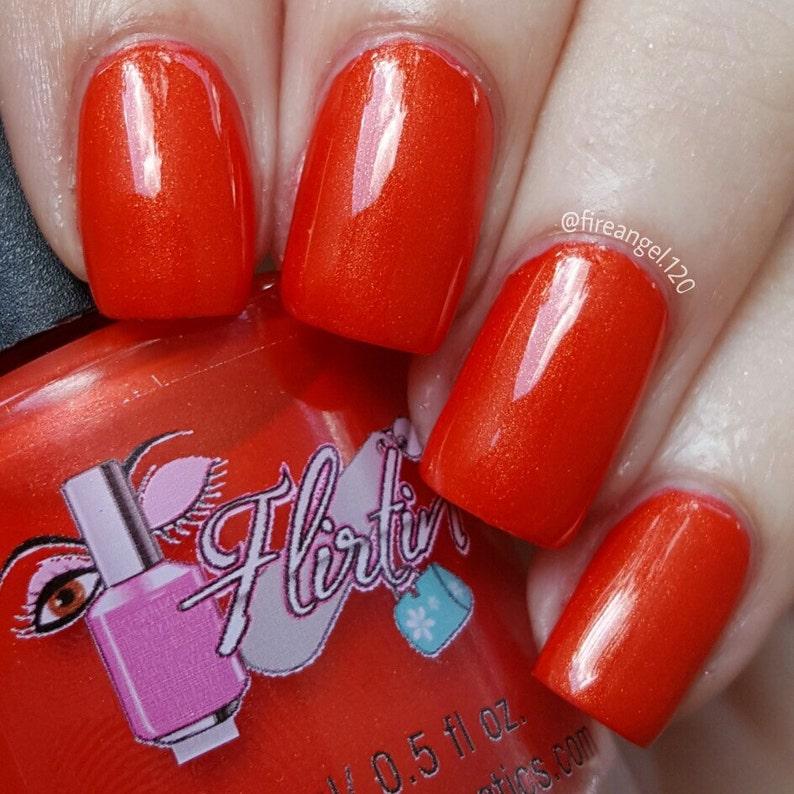 Indie Polish Nail Polish Coral Red Nail Polish | Etsy