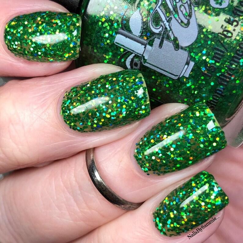 Green nail polish  Envy Indiepolish image 0