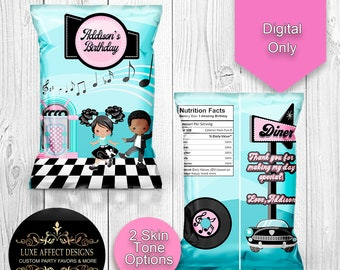 50/'s Chip Bags Sock Hop Favor Bags 50/'s Treat Bags Birthday Party 50/'s Sock Hop Party