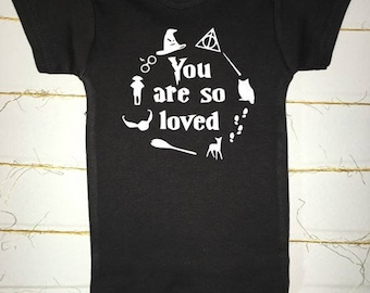 You are so loved - Harry Potter inspired black onesie