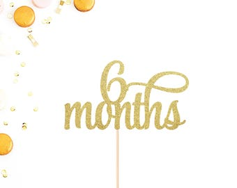 6 Month Birthday Etsy