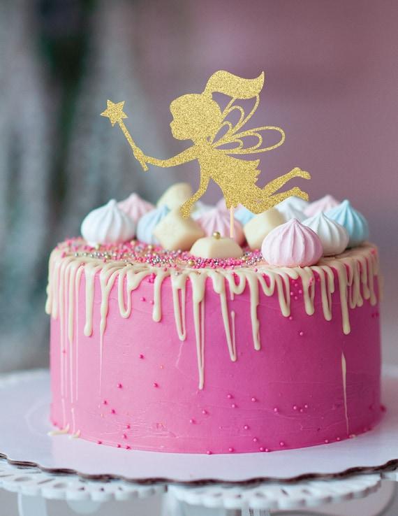 Fairy Cake Topper Fairy Wand Cake Topper Fairy Birthday Etsy