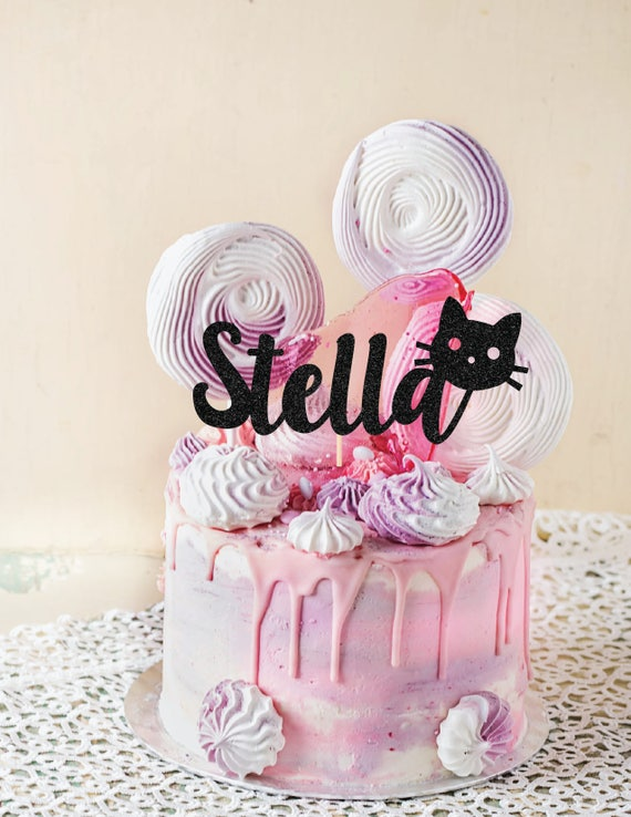 Miraculous Cat One Cake Topper First Birthday Cake Topper Cat Etsy Funny Birthday Cards Online Ioscodamsfinfo