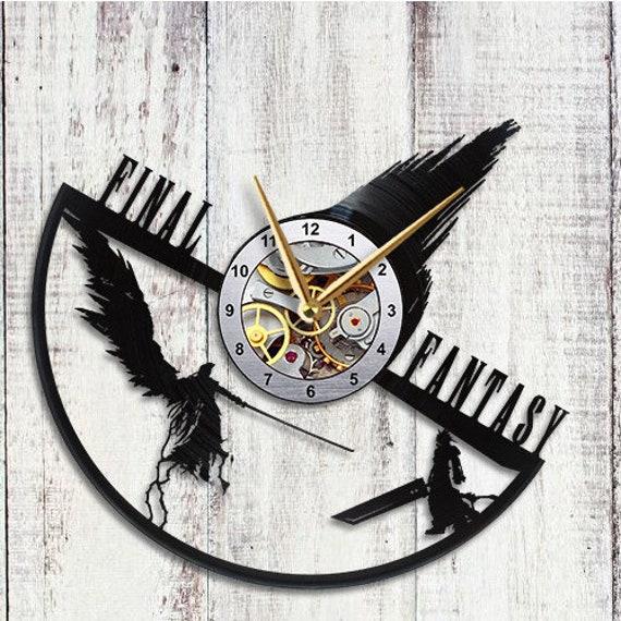 Final Fantasy VII 7 Sephiroth Cloud Vinyl Record Wall Clock Art Room Decor Gifts