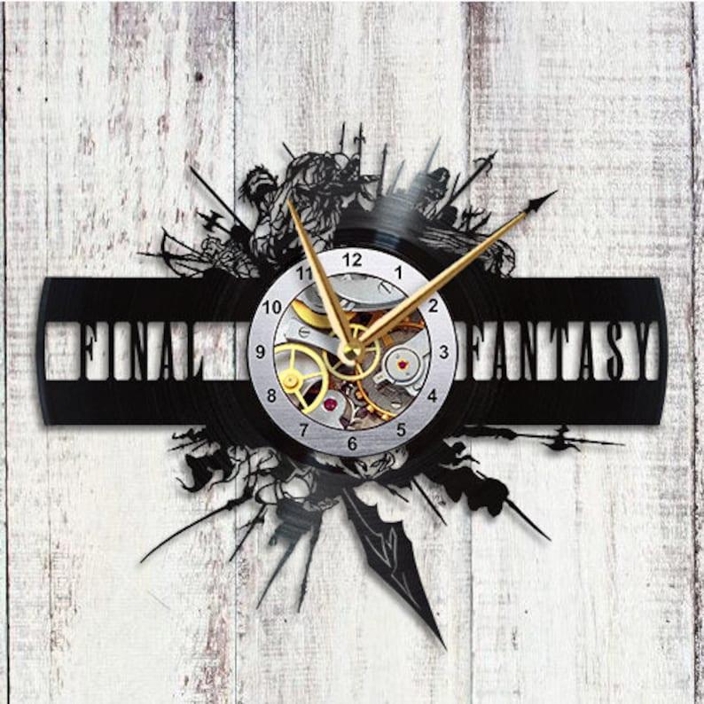 Final Fantasy xiv Clock Vinyl Record ffxiv Large Wall Clock