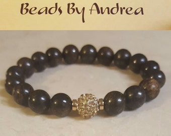 Fraternity Pave Collection-Brown and Gold