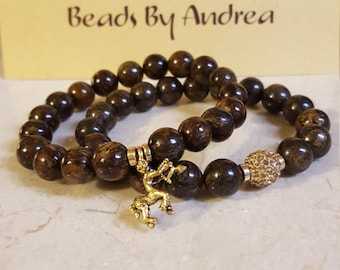 """Fraternity Collection Duo-""""Brown & Gold"""""""