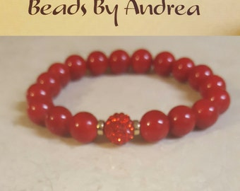 Fraternity Pave Collection-Crimson and Gold