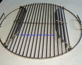 """21.5"""" Round Flip Up BBQ Stainless Grill Cook Grate- KG 7436 Weber  replacement"""