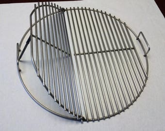 """KG 7436 SNS 21.5"""" Round Flip Up BBQ Stainless Grill Cook Grate- Weber  replacement"""