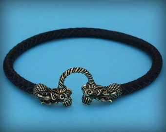 Leather AnkletArmletChoker Necklace Braided Leather Funky Anklet Leather Snake Bracelet Surfer Style Handcrafted Plaited Leather