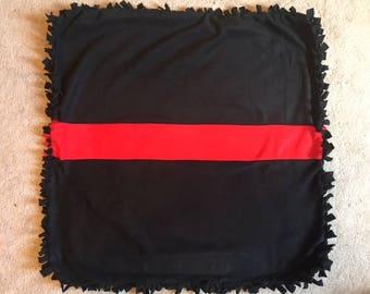 Thin Red Line Fleece Baby Blanket