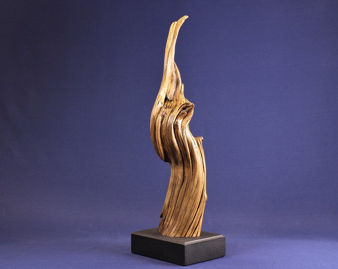 Featured listing image: Natural Wood Sculpture, Forest Sculpture , Driftwood Sculpture: 19061 Animation