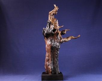 Natural Wood Sculpture, Forest Sculpture , Driftwood Sculpture: 19029 Forest Elder