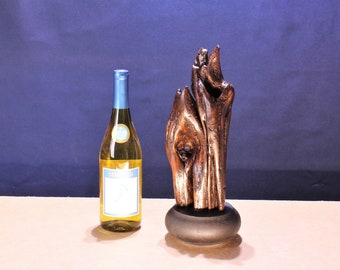 Wood Sculpture, Forest Sculpture , Driftwood Sculpture : 16014 Dark Flame