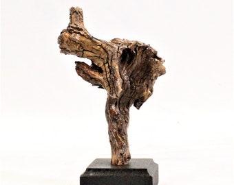 21026 Natural Wood Sculpture, Forest Sculpture , Driftwood Sculpture: Forest Dragon