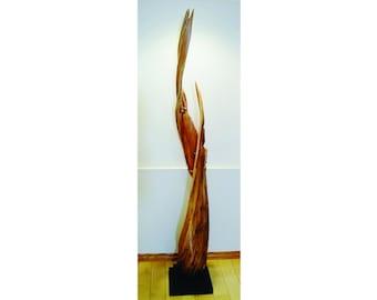 21013 Natural Wood Sculpture, Forest Sculpture , Driftwood Sculpture: Forest DNA