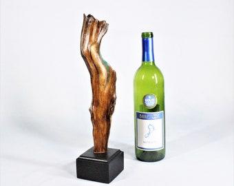 21023 Natural Wood Sculpture, Forest Sculpture , Driftwood Sculpture: River of Green