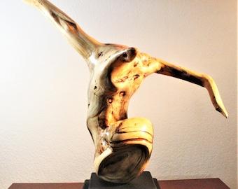 21012 Natural Wood Sculpture, Forest Sculpture , Driftwood Sculpture: Tattooed Dancer