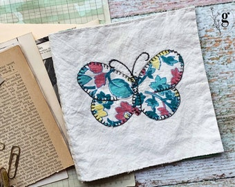 1930s Vintage Antique Quilt Journal Kit #1 — Antique Book Pages, Magazines, Lace Buttons and More