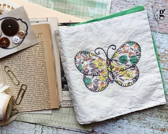 1930s Vintage Antique Quilt Journal Kit #4 — Antique Book Pages, Magazines, Lace Buttons and More