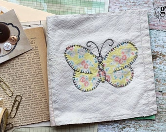 1930s Vintage Antique Quilt Journal Kit #2 — Antique Book Pages, Magazines, Lace Buttons and More