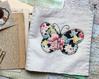 1930s Vintage Antique Quilt Journal Kit #3 — Antique Book Pages, Magazines, Lace Buttons and More