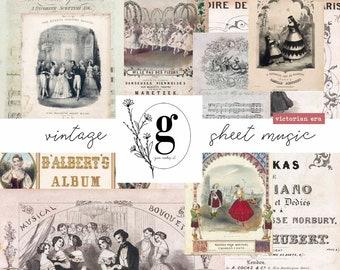 Vintage Sheet Music: Victorian Era
