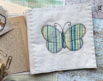 1930s Vintage Antique Quilt Journal Kit #6 — Antique Book Pages, Magazines, Lace Buttons and More