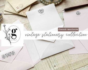Vintage Stationary Collection: French Manicure