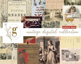 Vintage Digital Collection: School Days