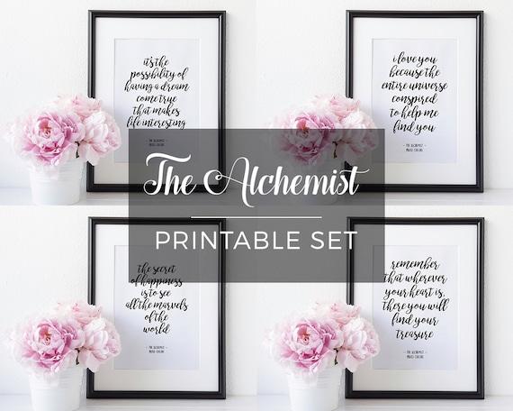 Der Alchimist Zitate Paulo Coelho Druckbare Zitat Satz Ich Dich Liebe Weil Wall Decor Art Instant Download Druckbaren Digitalen Kunst 8 X 10