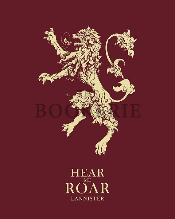 Game of Thrones House Lannister   Hear Me Roar   House Sigil   Wall Ideas For Design House Sigils on back house ideas, blue house ideas, stone house ideas, nature house ideas, green house ideas, spirit house ideas, water house ideas, dream house ideas, steampunk house ideas, fire house ideas,
