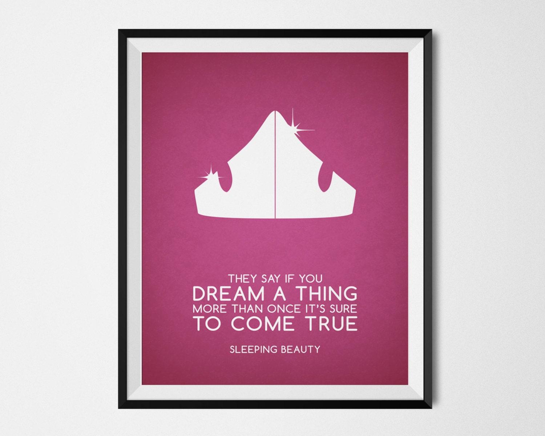Disney Sleeping Beauty Poster Minimalist Print Sleeping | Etsy