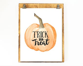 Items Similar To Happy Halloween Pumpkin Printable Wall Art
