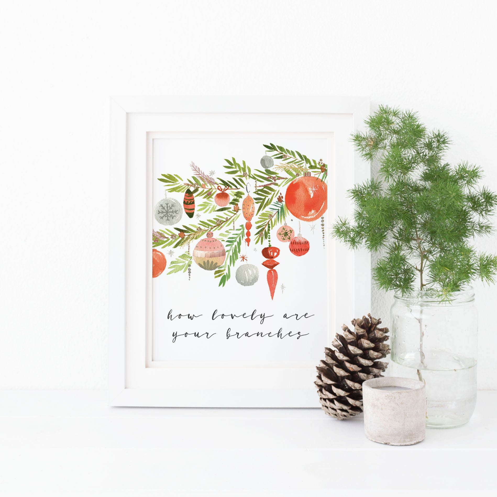 How Lovely Are Your Branches Christmas Tree Print O Christmas | Etsy